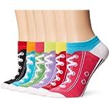 K. Bell Sport Women's Sneaker Low Cut No Show Socks 6-pack, One Size (KBWS15C044-06), Sneaker Socks (White)