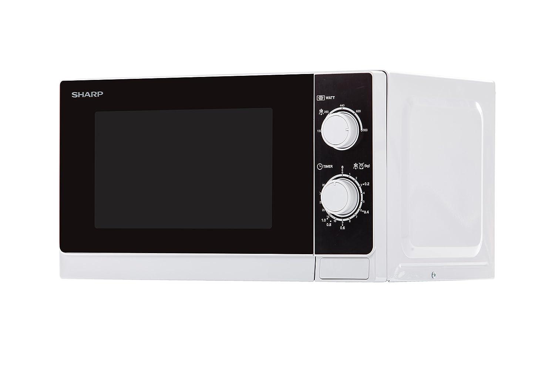 Sharp R-200WW Microondas 20L, Control Mecánico, 800W, Blanco, 800 W, 20 litros: Amazon.es: Hogar