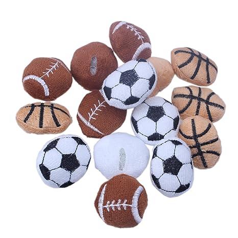 15pcs deportes Baloncesto Fútbol Rugby Fuzzy appliques parches de ...