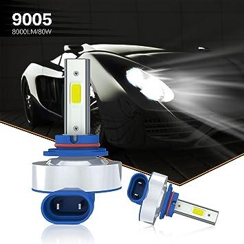 Aokairuisi® Bombillas LED para faros delanteros de coche con chips de 8000 lm y 6500 K: Amazon.es: Coche y moto