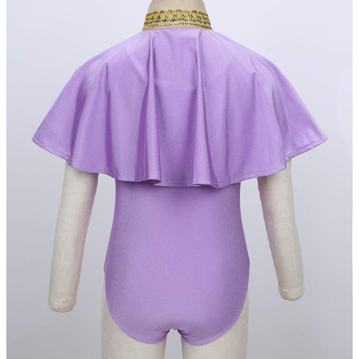 iixpin Body Danza Classica Bambina Leotard Balletto Dancewear Body Ginnastica Artistica per Bambina Senza Manica con Coprispalle Corto Elegante Anne-Wheeler Costume
