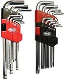 Famex Werkzeuge 10790 - Juego de llaves acodadas (para tornillos hexagonales, con hexágono interior y Torx, 18 piezas)