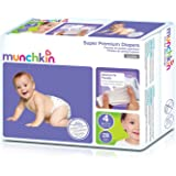 Munchkin Super Premium Diapers, Size 4/Large Ultra (22-37 Pounds), 112 Count