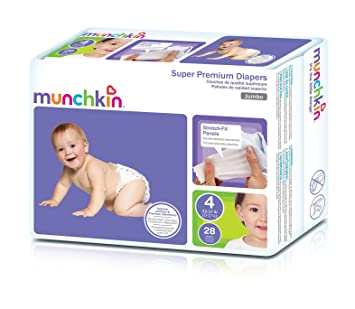 Munchkin Super Premium Diapers, Size 4/Large Ultra (22-37 Pounds)