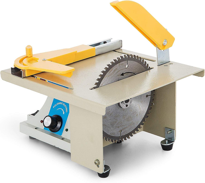 VEVOR Hoja de Sierra de Mesa de Precisión Bricolaje Carpintería Corte Pulido Talla Máquina 220V