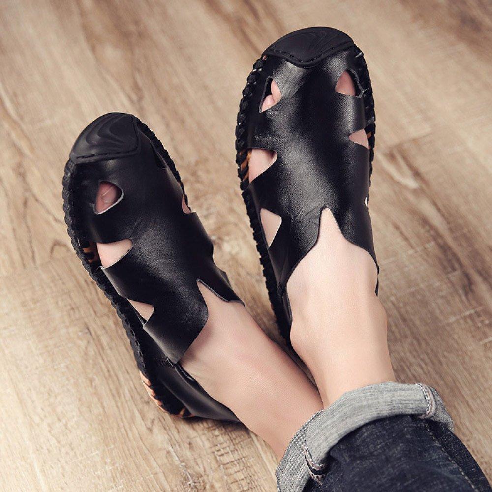 ZLLNSPX Herren Trend Sandalen Im Freien Freizeitschuhe Trend Herren Strandschuhe schwarz a84da3