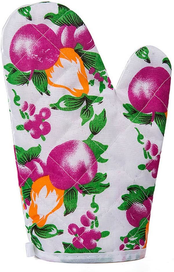 Daycount 1 Pair of Pot Holders, Heat Resistant and Machine Washable Oven Mitts Grip for Kitchen Oven for Cooking Baking Potholder (Plum)