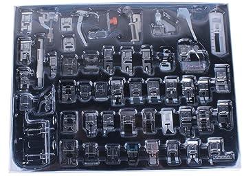 Hercolor - Juego profesional para prensatelas para máquina de coser juego de pies para bajo filo Máquinas de Coser: Amazon.es: Hogar