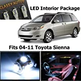 Classy Autos White LED Lights Interior Package For Toyota Sienna (11 Pieces)