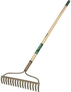 Rechen mit Holzstiel 6 Zinken Harke Laubrechen Gartengerät