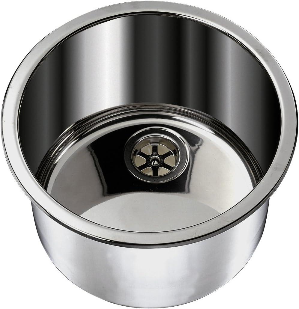 Ambassador Marine Cylinder Stainless Steel Brushed Finish Sink