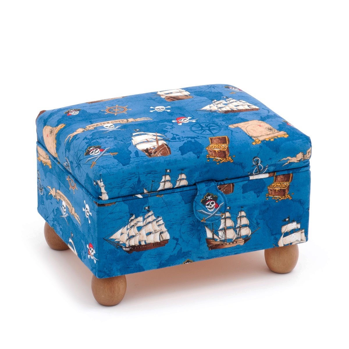 Hobby Gift 'Pirate' Extra Large Sewing Stool 26 x 33 x 22cm (d/w/h)
