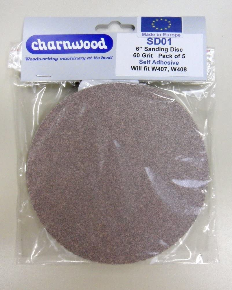 pack of 5 Charnwood SD03 6 Discs 120grit