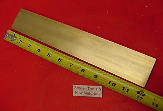 """12/"""" Brass Flat Bar 1//64/"""" x 3//32/"""" W-KS815021 Pk2"""
