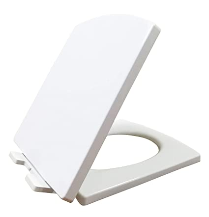 Fine Ultrabyeasypeasystore White Square Shaped Soft Close Toilet Seat Easy Instal Quick Fixing Pp Anti Bacterial Quick Release Slow Closing Hinges Onthecornerstone Fun Painted Chair Ideas Images Onthecornerstoneorg