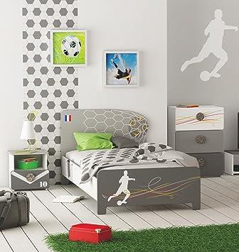 Amazonde Kinderbett Fußball Struktur Holz 90 X 200 Cm
