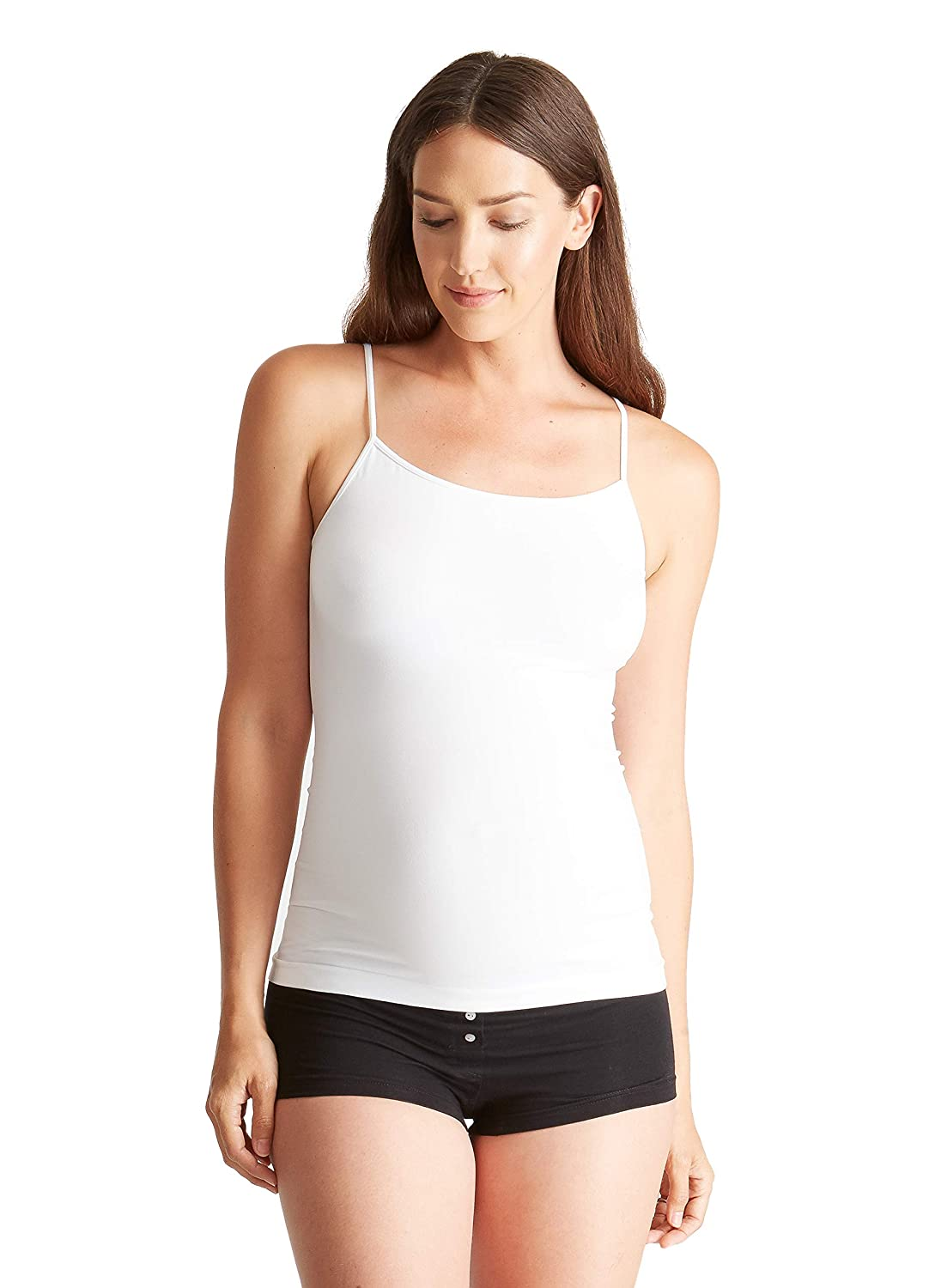 5eed7fd3609a8 Ingrid   Isabel Women s Camisole Tank Top Everyday Cami Maternity Stretch  Shirt at Amazon Women s Clothing store  Fashion Maternity Tank Top And Cami  Shirts