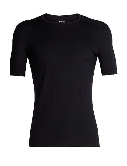 328443326c3 Icebreaker Merino Men's 200 Oasis Short Sleeve Crew Neck Shirt, Black, Small
