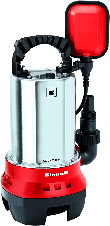 Einhell GC-DP 6315 N - Bomba de aguas sucias (630W, máx. 17.000 l/h, profundidad max. de inversi...