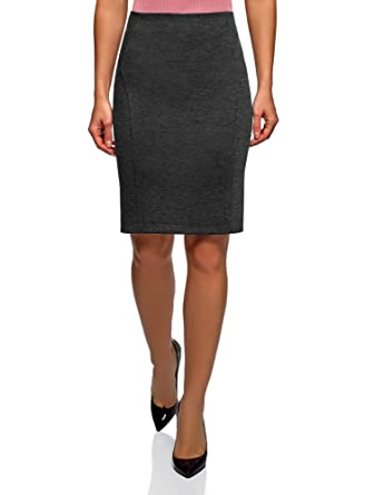 fa6ddd693 oodji Ultra Women's Jersey Pencil Skirt, Grey, UK 6 / EU 36 / XS