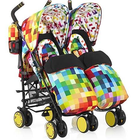 Cosatto SUPA DUPA TWIN STROLLER color PIXELATE: Amazon.es: Bebé