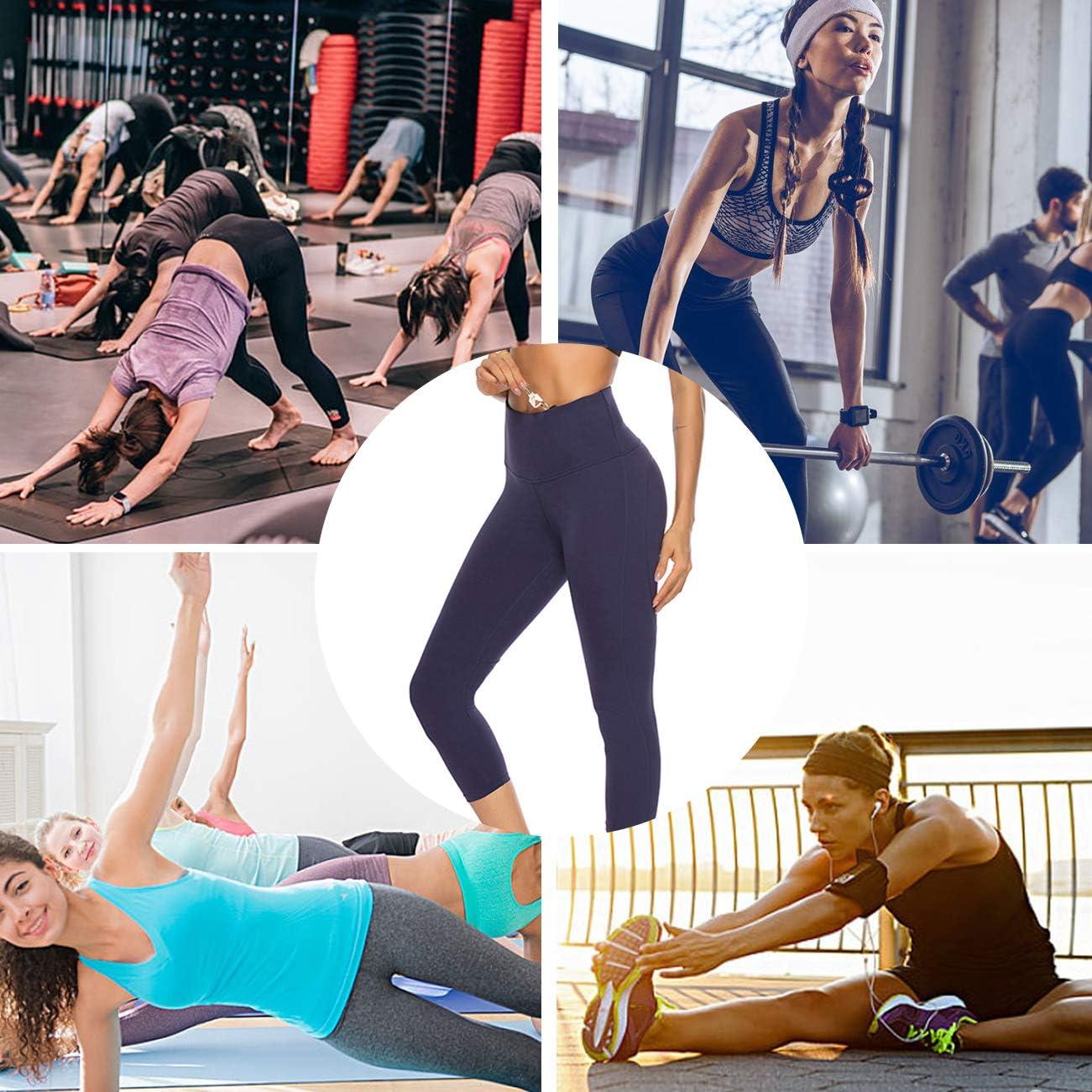 JOYMODE Womens High Waist Yoga Leggings Non See-Through Running Pants Workout Active Fitness Capris
