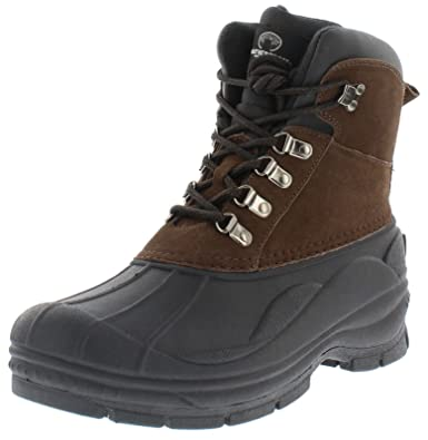 Men's Transit Lace Up Waterproof Boot  Thermolite Suede Winter Boots With Rubber Grip Sole