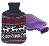 Premium Classic Rubber Hot Water Bottle and