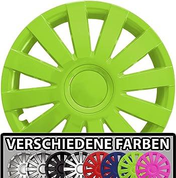 Eight Tec Handelsagentur Farbe Größe Wählbar 15 Zoll Radkappen Agat Grün Passend Für Fast Alle Fahrzeugtypen Universal Auto