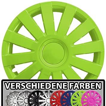 Radkappen Radzierblenden Radabdeckungen 15 Zoll #166 GREEN-BLACK GR/ÜN SCHWARZ