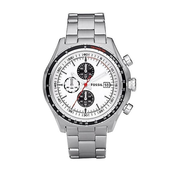 Fossil Gents Sport CH2730 - Reloj para hombres, correa de acero inoxidable color plateado: Fossil: Amazon.es: Relojes