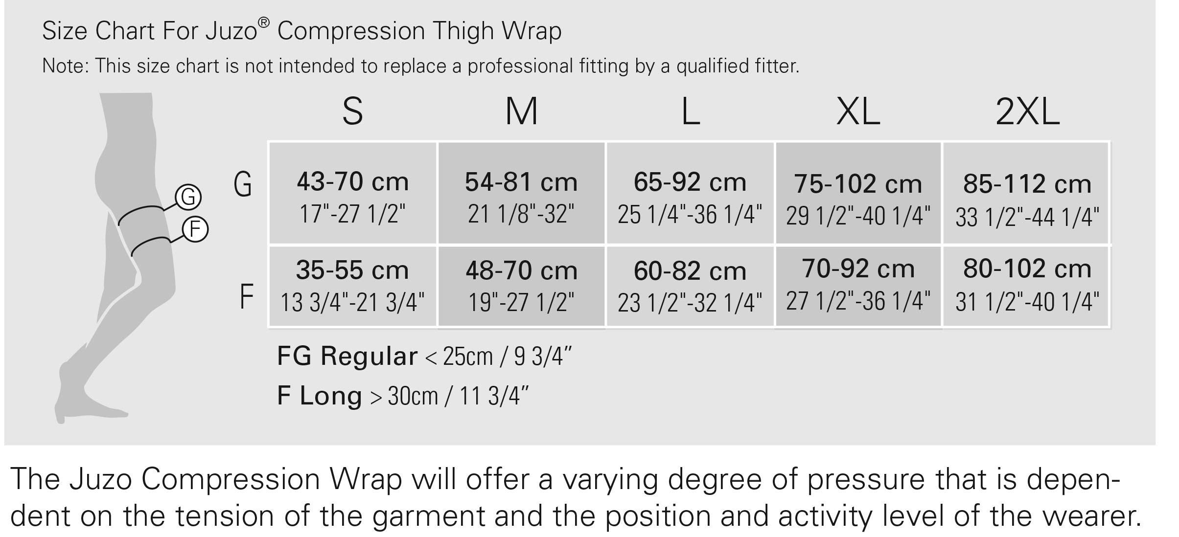 Juzo Compression Thigh Wrap Beige X-Large Reg 6000FGR XL