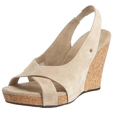0b20e15d68c Ugg Australia Women s Hazel Wedge Sandal Sand 1771 5 UK  Amazon.co ...