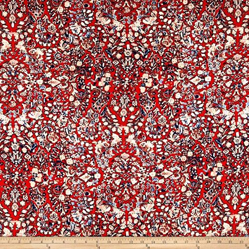 (Art Gallery Fabrics Heritage Rayon Challis Treasured Fabric by The Yard Kermes)