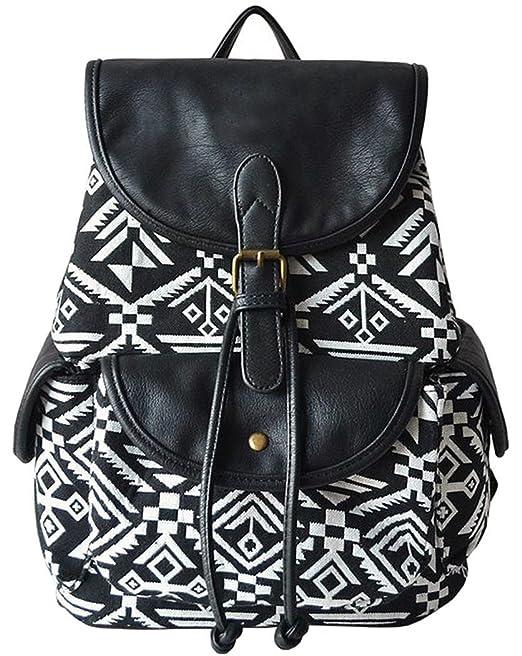 Coofit Casual Mochilas Femeninas Lona Mochilas Escolares Vintage Backpack: Amazon.es: Ropa y accesorios