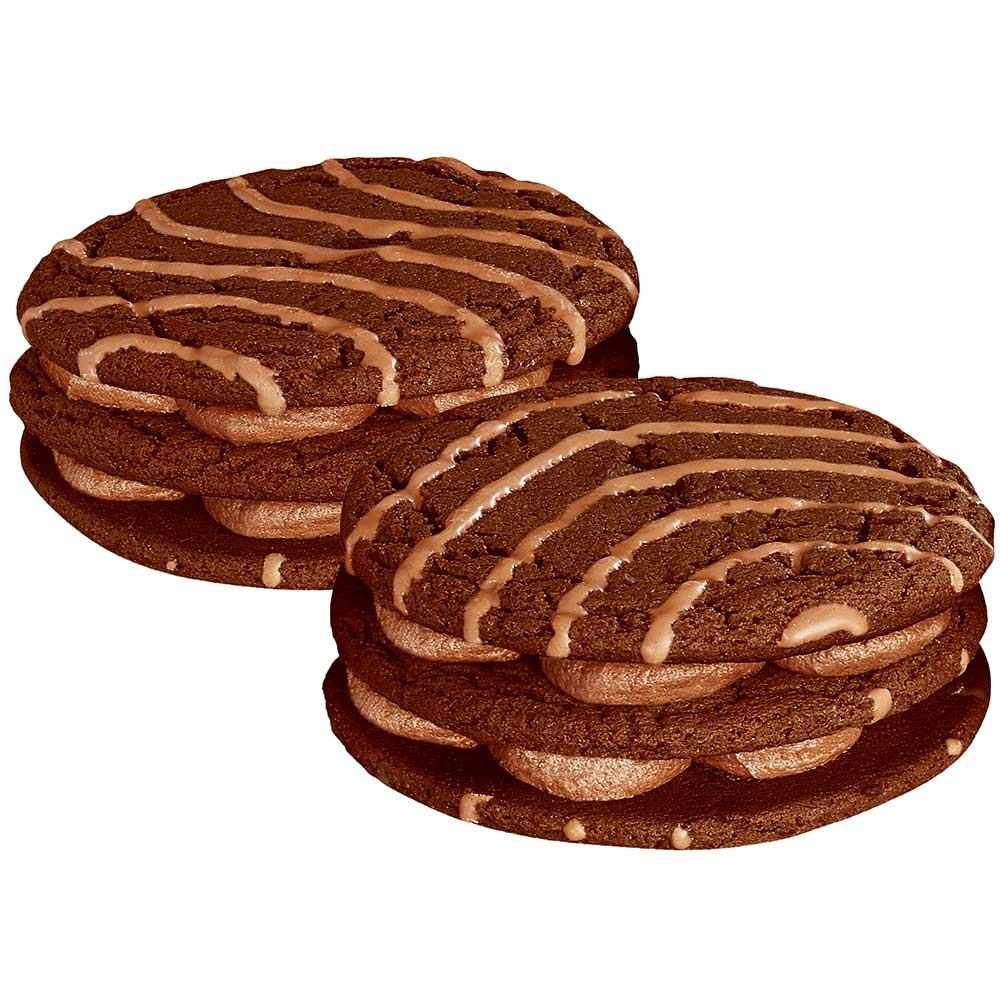 Little Debbie Vending Double Decker Fudge Round -- 54 per case.