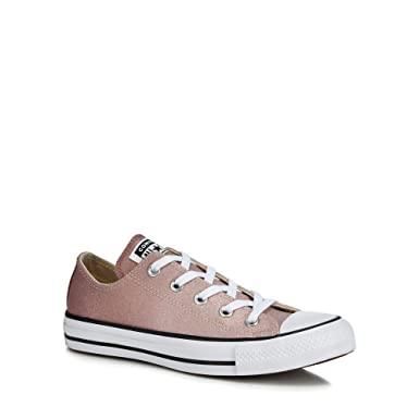 latest collection shop for genuine new arrive Converse Womens Pink Glitter 'All Star Ox' Trainers ...