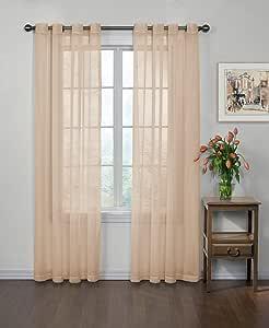 "Curtain Fresh Arm and Hammer - Panel de Cortina Transparente neutralizante de olores Frescos (Panel único), poliéster, Latte, 59"" x 63"", 1"