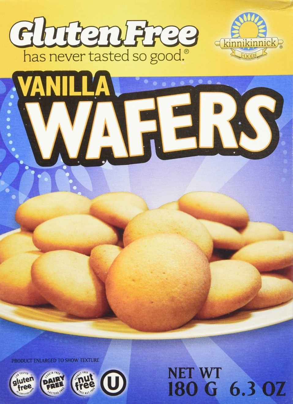Amazon.com: Kinnikinnick Gluten Free Vanilla Wafers -- 6.3 oz (Pack of 6)