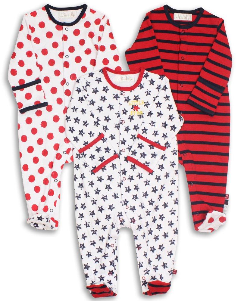 The Essential One - Pijama para bebé - Paquete de 3-0-3 meses ESS36