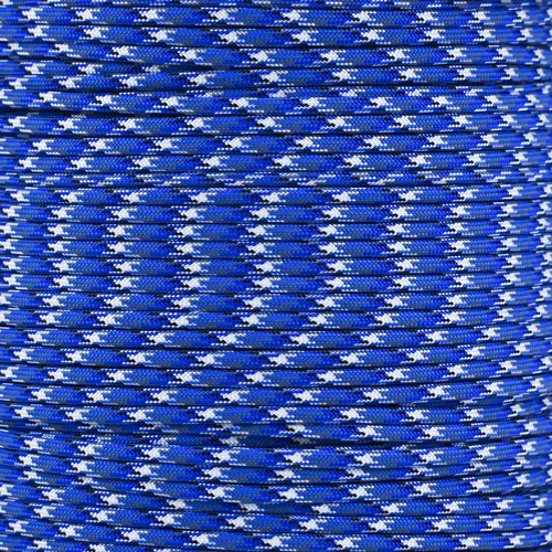 SGT KNOTS Paracord 550 Type III 7 Strand - 100% Nylon Core and Shell 550 lb Tensile Strength Utility Parachute Cord for Crafting, Tie-downs, Camping, Handle Wraps (Blue Camo - 100 ft) by SGT Knots (Image #2)
