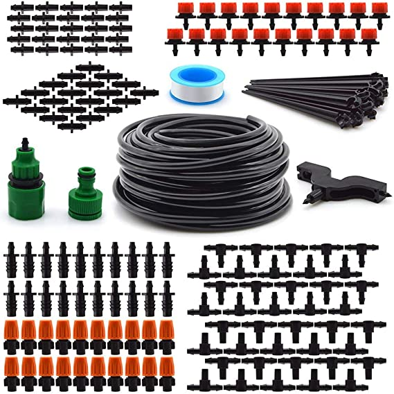 Flantor Garden Irrigation System Blank Distribution Tubing Watering Drip Kit - Best Installation
