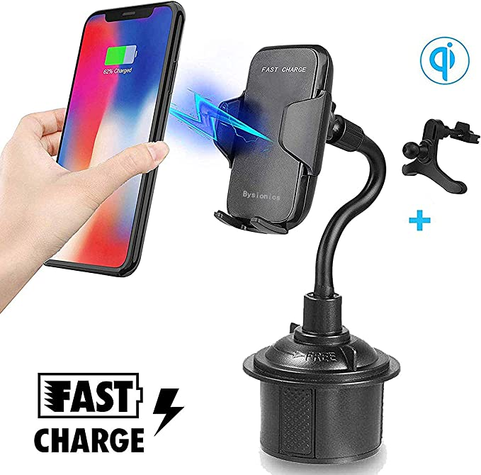 Wireless Car Charger Compatible for All Qi-Enabled Devices 10W