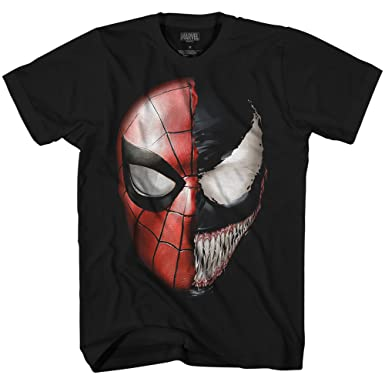 2c58fc0f Amazon.com: Venom Spidey Faces Spiderman Avengers Villain Comic Book Men's  Graphic T-Shirt: Clothing
