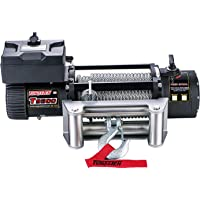 Tungsten4x4 T9500 Offroad 9500 lbs Load Capacity Electric Winch with Steel Rope, Roller Hawse and Both Wireless Handheld Remote