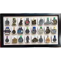 UMDISPLAY Medallero de 24 Posiciones Color Hueso con Tableta para Foto