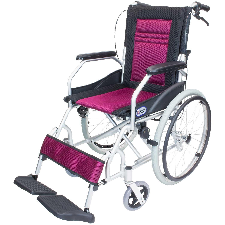 ケアテックジャパン 軽量 自走式アルミ製車椅子 CA-12SU ハピネスライト (ワインレッド) B01N259JHR  ワインレッド