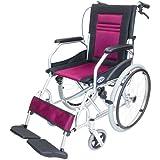 ケアテックジャパン 軽量 自走式アルミ製車椅子 CA-12SU ハピネスライト (ワインレッド)