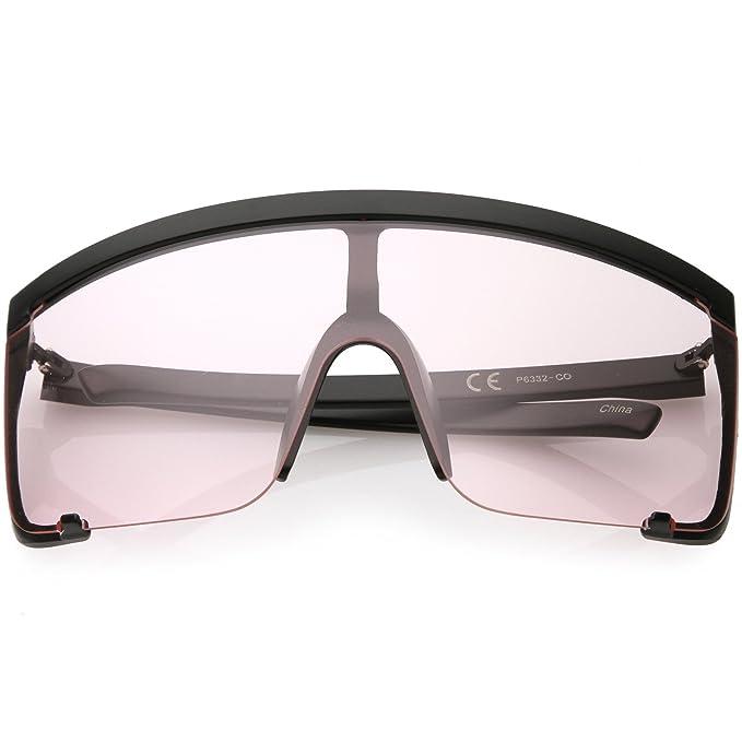 Amazon.com: sunglassla – Oversize Semi montura escudo ...