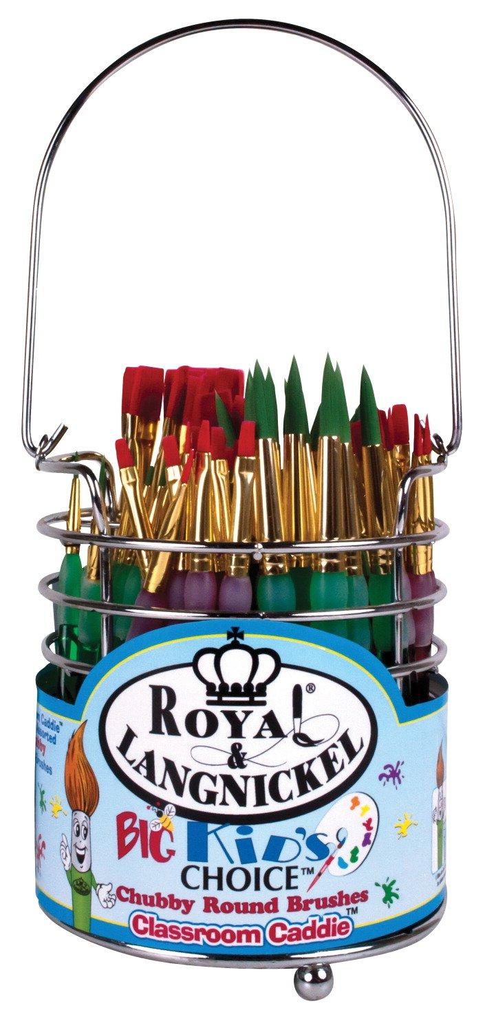 Royal Brush Big Kids Choice Combo Classroom Caddie Brush Set, Assorted, Set of 72